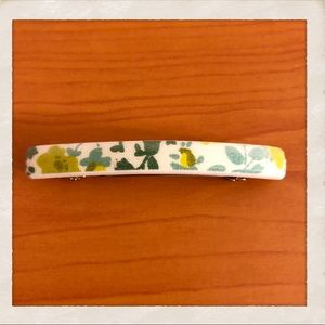 Beautiful Vintage Floral French Barrette, France